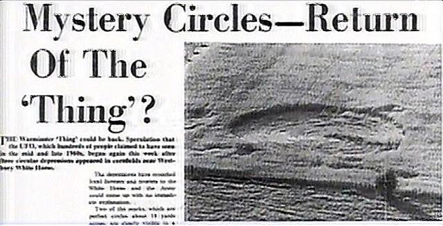 世界で初めて報道されたミステリーサークルの記事
