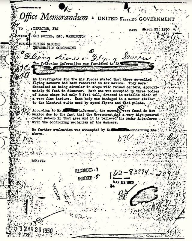 FBI捜査官ガイ・ホッテルによる実際の報告書