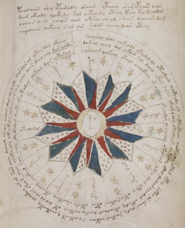 占星術のページの例